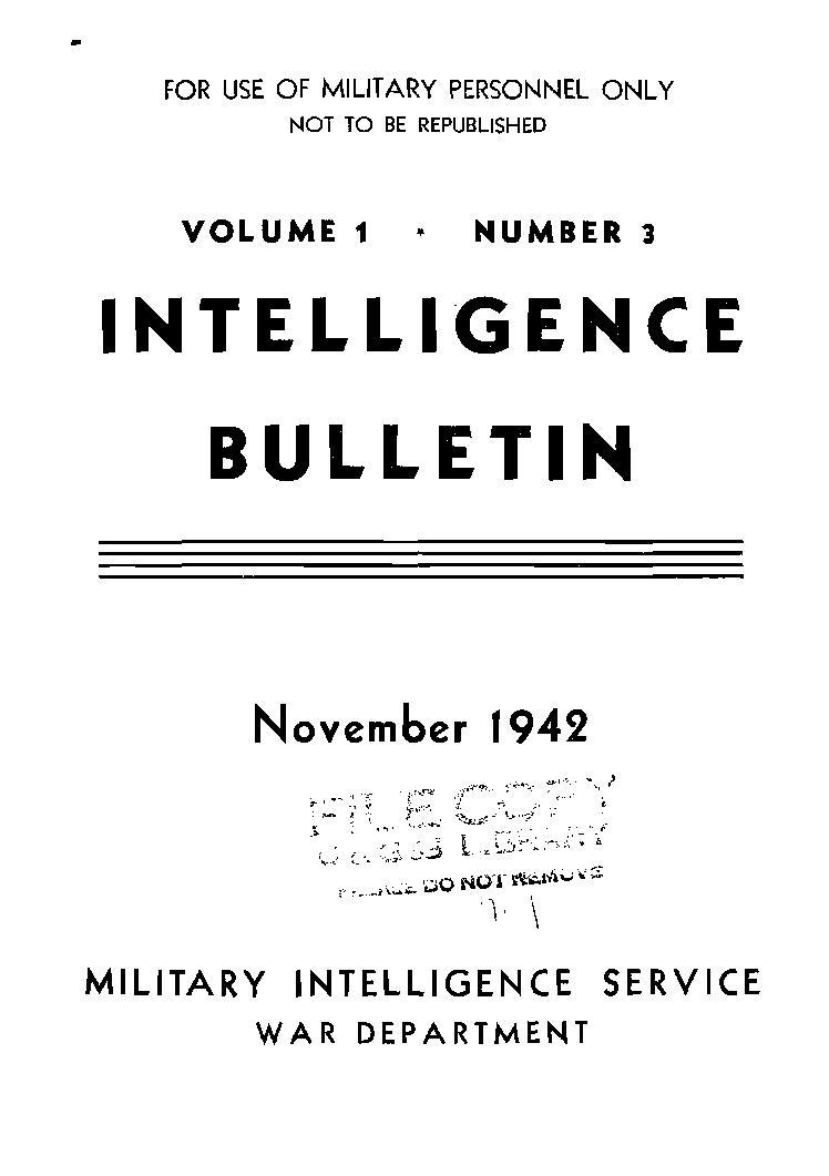United States. War Department - 1942-11 Intelligence Bulletin Vol 01 No 03